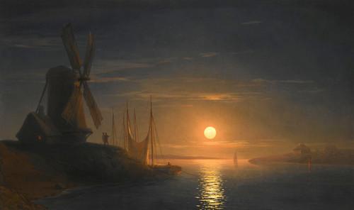 Art Prints of Moonlight Over the Dnieper by Ivan Konstantinovich Aivazovsky