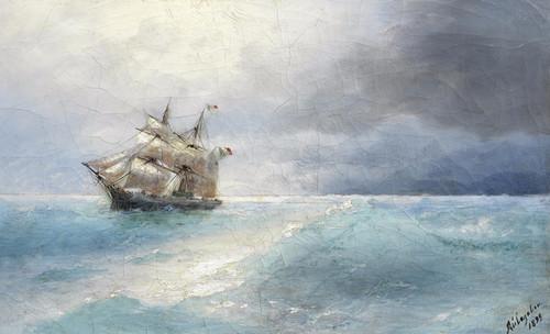 Art Prints of Italian Ship at Sea by Ivan Konstantinovich Aivazovsky