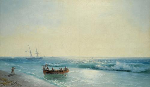 Art Prints of Sailors Coming Ashore by Ivan Konstantinovich Aivazovsky