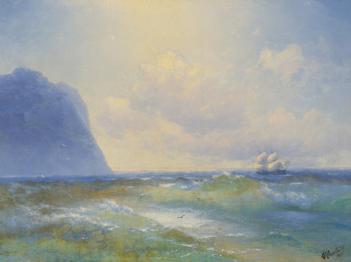 Art Prints of Ship at Sea by Ivan Konstantinovich Aivazovsky