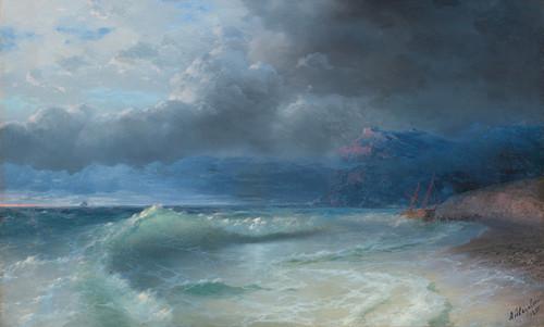 Art Prints of Shipwreck on a Stormy Morning by Ivan Konstantinovich Aivazovsky