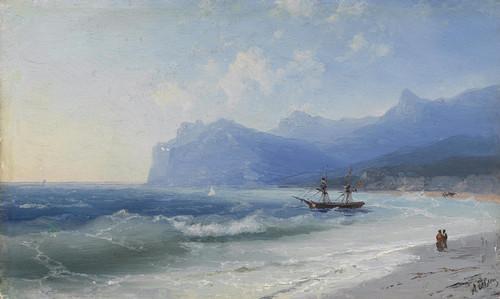 Art Prints of Beach at Koktebel on a Windy Day by Ivan Konstantinovich Aivazovsky