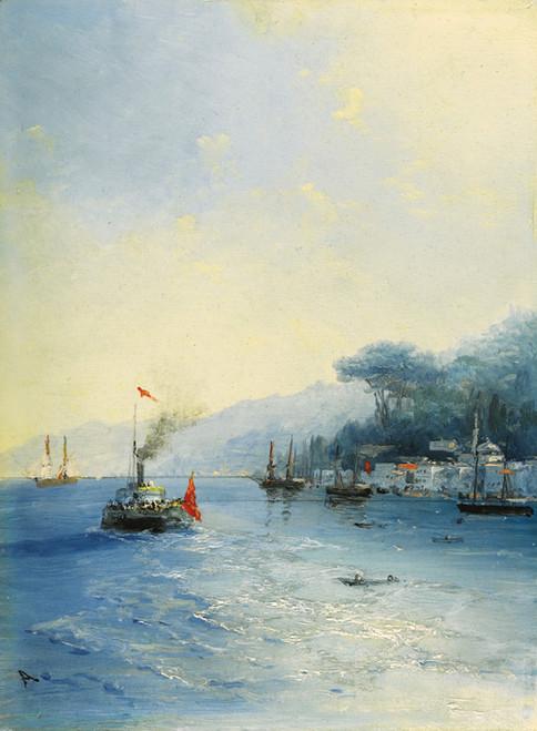 Art Prints of Shipping on the Bosphorus by Ivan Konstantinovich Aivazovsky