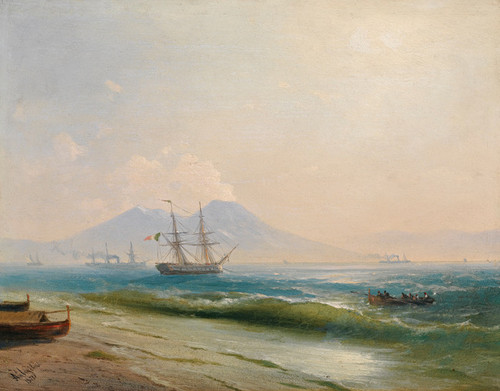 Art Prints of View of Mount Vesuvius by Ivan Konstantinovich Aivazovsky