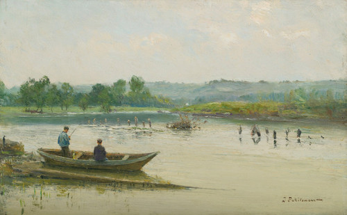 Art Prints of Fisherman Near Liege by Ivan Pavlovich Pokhitonov