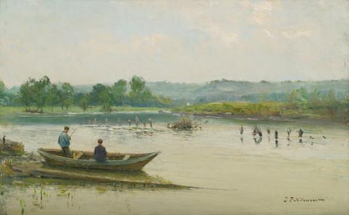 Art Prints of Fisherman Near Liege by Ivan Pavlovich Pokhitonov