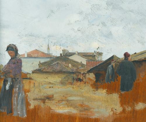 Art Prints of In the Village by Ivan Pavlovich Pokhitonov