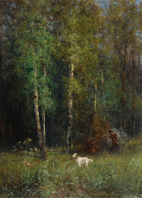 Art Prints of Hunting in the Woods by Ivan Pavlovich Pokhitonov