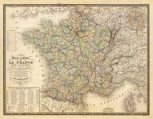 Art Prints of France, Physique Politique, 1849 (2486023) by J. Andriveau Goujon