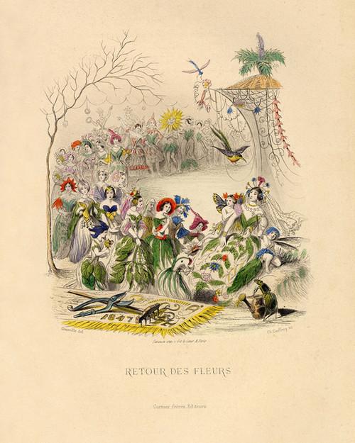 Art Prints of Return of the Flowers by J. J. Grandville