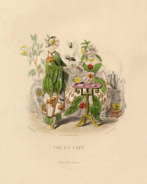 Art Prints of The Et Cafe by J. J. Grandville