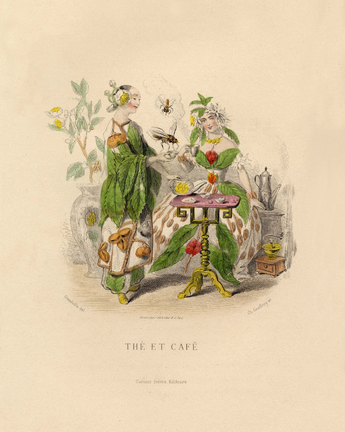 Art Prints of The Et Cafe by J. J. Grandville