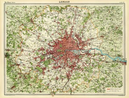 Art Prints of London, 1922 (2113027) by J.G. and John Bartholomew and Son