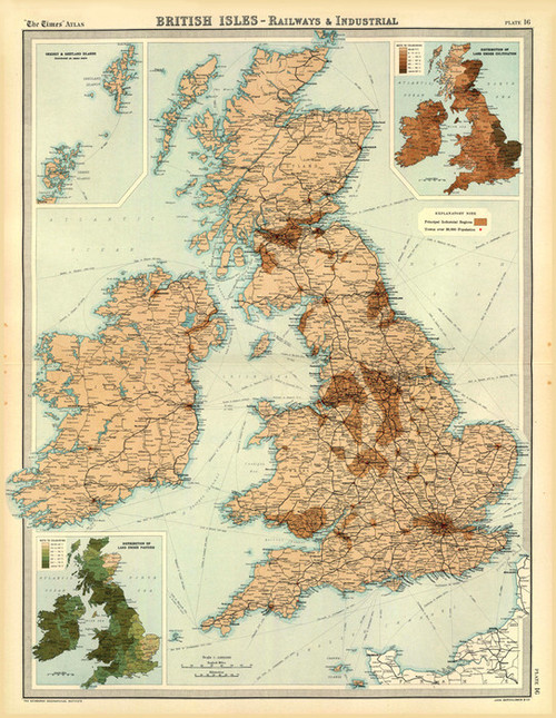 Art Prints of British Isles Industrial (2113017) by J.G., John Bartholomew and Son