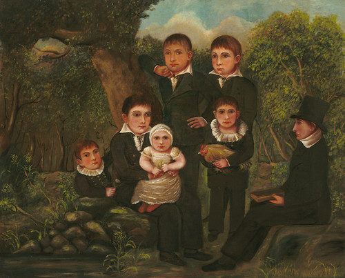 Art Prints of Abraham Clark and His Children by an Unknown Artist