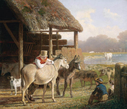 Art Prints of A Visit to the Farm by Jacques-Laurent Agasse