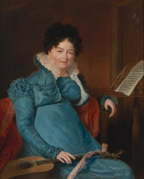 Art Prints of Portrait of Mrs. Edward Scheener by Jacques-Laurent Agasse