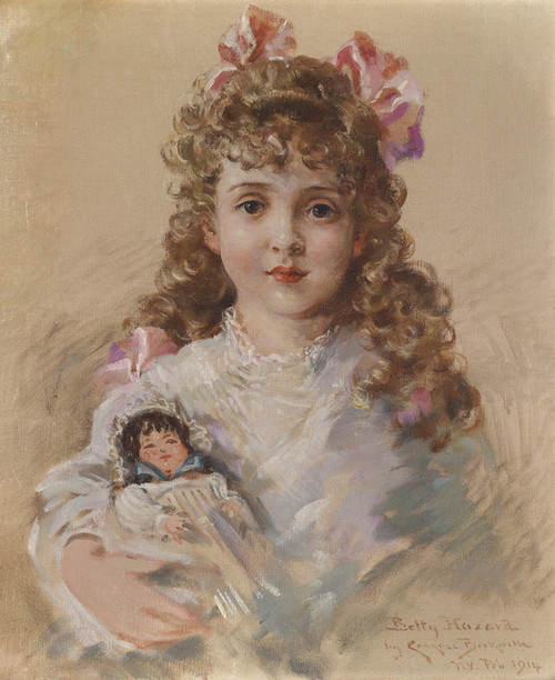 Art Prints of Betty Hazard with Her Favorite Doll 1914 by James Carroll Beckwith