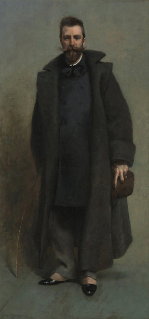 Art Prints of Portrait of William Merritt Chase by James Carroll Beckwith