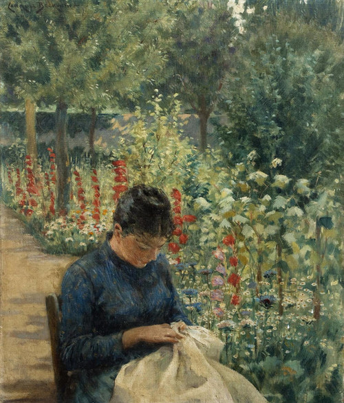 Art Prints of The Garden of Giverny, France by James Carroll Beckwith