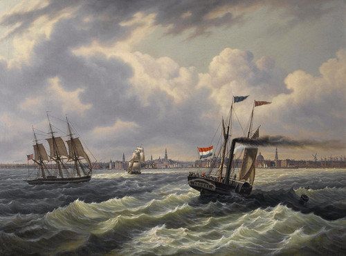 Art Prints of Full Rigged American Merchantman by James Edward Buttersworth