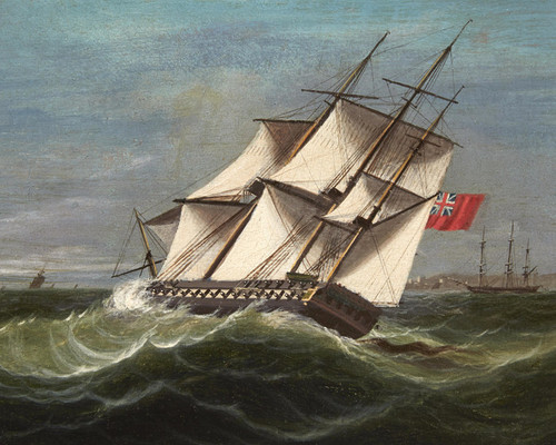 Art Prints of A British Frigate on the Wind by James Edward Buttersworth