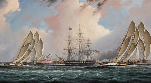 Art Prints of New York Harbor Regatta by James Edward Buttersworth