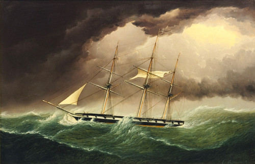 Art Prints of Packet Ship in a Storm by James Edward Buttersworth
