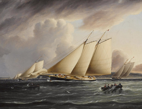 Art Prints of New York Yacht Club Schooners Racing by James Edward Buttersworth