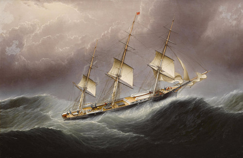 Art Prints of American Clipper Ship Flying Cloud Off Cape by James Edward Buttersworth