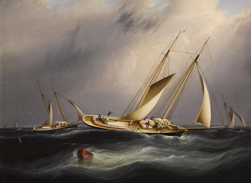 Art Prints of New York Yacht Club Schooners by James Edward Buttersworth