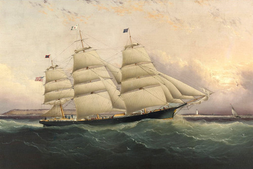 Art Prints of The Clippership Sunrise by James Edward Buttersworth