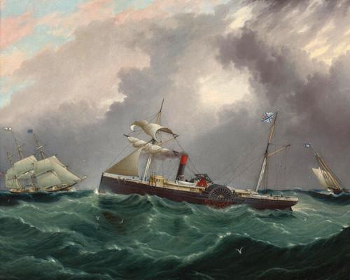 Art Prints of Steam Sailer San Salvador by James Buttersworth