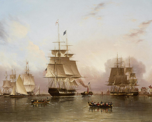Art Prints of The New York Packet Enterprise by James Edward Buttersworth