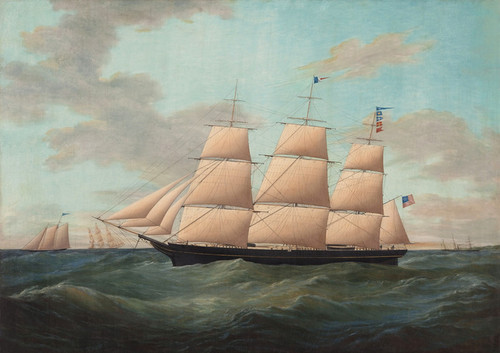 Art Prints of Painting of the Fullrigger United States by James Edward Buttersworth