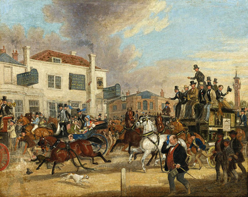 Art Prints of Going to the Derby, the Speed Eagle Epsom by James Pollard
