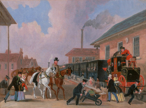Art Prints of Louth London Royal Mail Traveling by Train by James Pollard