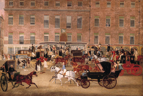 Art Prints of The White Horse Cellar, Piccadilly by James Pollard