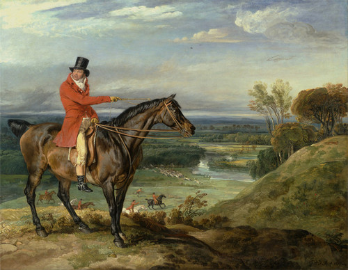 Art Prints of John Levett Hunting at Wychnor, Staffordshire by James Ward