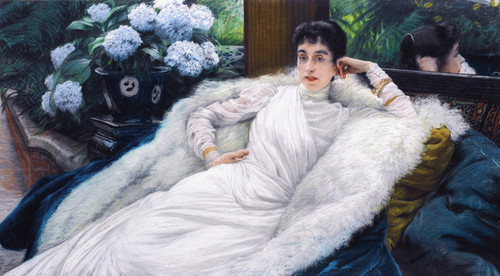 Art Prints of Clotilde Briatte Comtesse Pillet Will by James-Jacques-Joseph Tissot