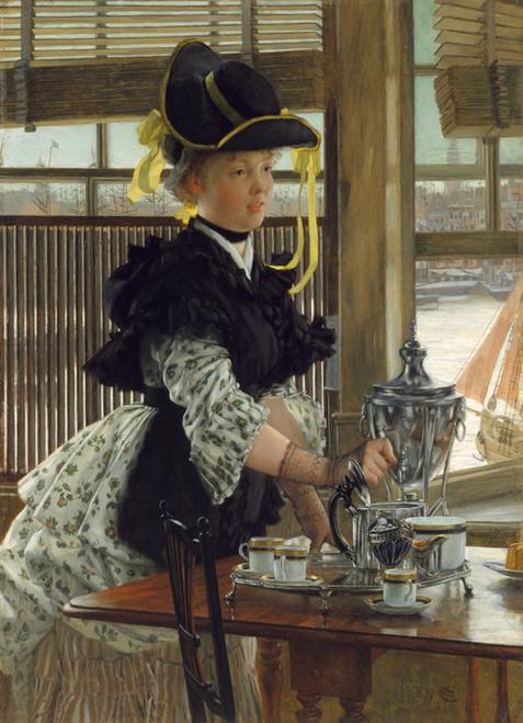 Art Prints of Tea by James-Jacques-Joseph Tissot