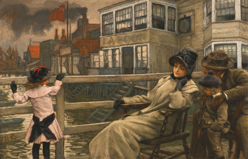 Art Prints of Waiting for the Ferry by James-Jacques-Joseph Tissot
