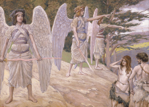 Art Prints of Adam and Eve Driven from Paradise by James-Jacques-Joseph Tissot