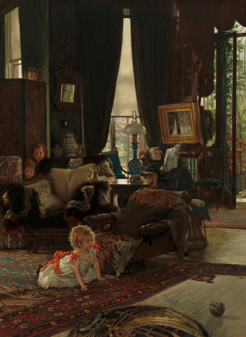 Art Prints of Hide and Seek by James-Jacques-Joseph Tissot