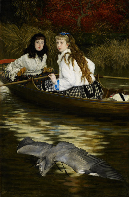 Art Prints of On the Thames, a Heron by James-Jacques-Joseph Tissot