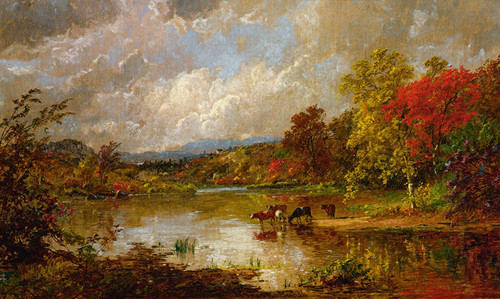 Art Prints of Autumn Landscape II by Jasper Francis Cropsey