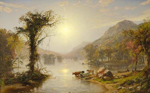 Art Prints of Autumn on Greenwood Lake by Jasper Francis Cropsey
