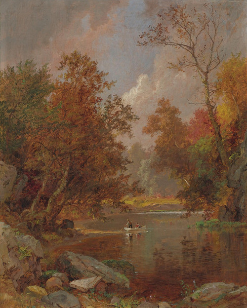 Art Prints of Autumn on the River by Jasper Francis Cropsey