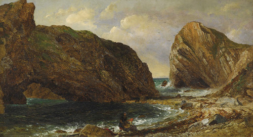 Art Prints of By the Sea Lulworth by Jasper Francis Cropsey