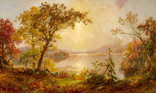 Art Prints of Greenwood Lake, Autumn on the Hudson by Jasper Francis Cropsey